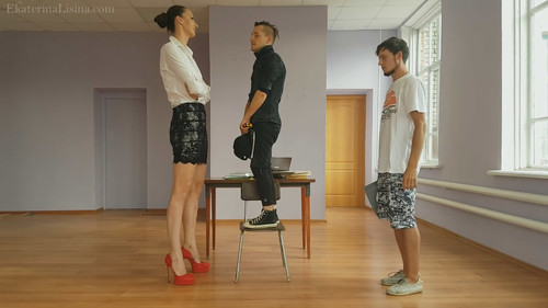 Teacher Punishment [Tall Amazon Ekaterina Lisina Height-206 cm.]