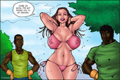 KAOS COMICS - POOLSIDE INTERRACIAL THREESOME WITH BIG BLACK DICKS - Complete  – DOCTOR BITCH 2