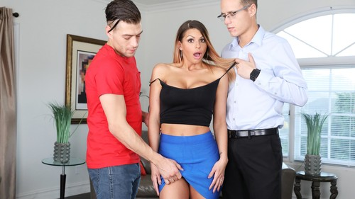 Blackmailed: Brooklyn Chase - Blackmailed Stepmom Brooklyn's 1st DP (1080p)