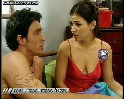 Agustina Cherri sexy cleavage nightgown