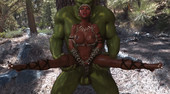 Amaya and the Orc 3D GIF from Daywalker