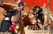 Sexy Wonderwoman in Black Pharaoh - Portraits of corruption and commissions