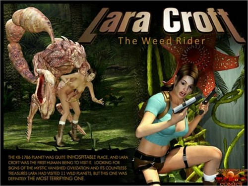 Lara Croft - The Weed Rider by Gonzo (full)