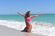 Jennifer Nicole Lee in a sexy pink bikini