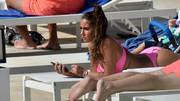 Sarah Lombardi in a sexy pink bikini
