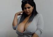 MegamBoobed Latina Testing Masturbator