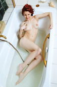 Readhead Hot Girl Shows Her Wet Pussy In Shower