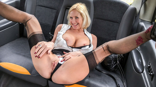 Fake Taxi - Molly Milf (Older Lady's Big Pussy Lips Opened)