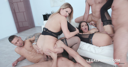 LegalPorno.com - Double Addicted with Jolee Love & Nikky Dream Balls Deep Anal / DAP/ ATOGM / Gapes / Swallow GIO663
