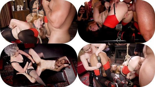 Aiden Starr, Kira Noir, Penny Pax  - BDSM Swinger Orgy Served by the Anal Servant Girls  (SD)