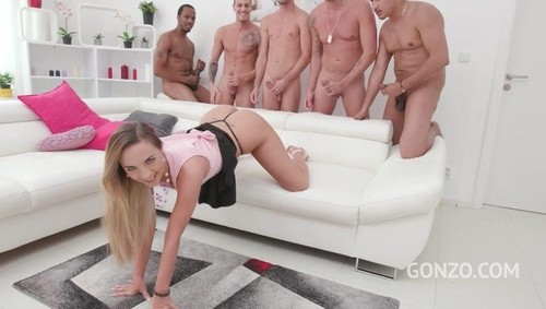 Kristy Black 5on1 fuck session with DP, DAP, DVP and triple penetration SZ2074  [SD]