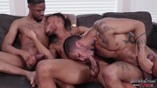 BreedItRaw - Mr Buck, Kyro Rose & Jin Powers Bareback