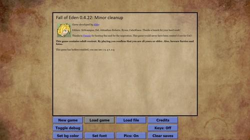 Alder - Fall of Eden - Version 0.4.22